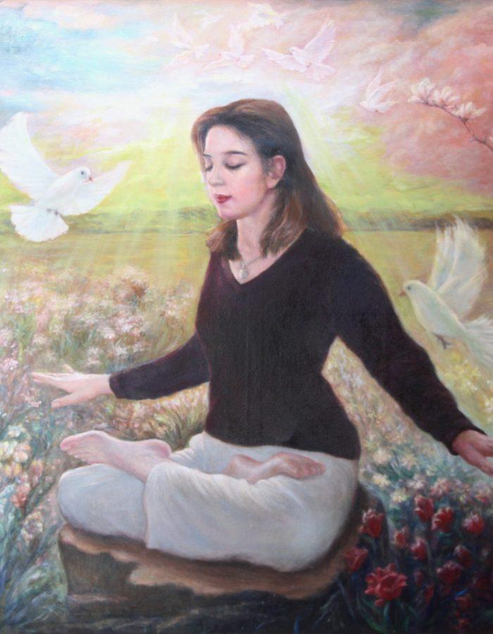 Jinyu Li artwok Meditation of Falun DaFa Exercise (1)